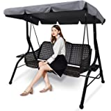 Replacement Canopy for Swing Seat, Swing Canopy Cover, Patio Hammock Cover, Waterproof Swing Chair Top Cover Roof for…