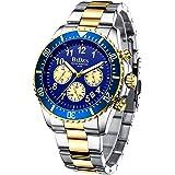 Relojes Hombre Relojes de Pulsera Cronografo Diseñador Impermeable Reloj Hombre de Acero Inoxidable Analogicos Fecha
