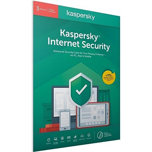 Kaspersky Internet Security 2018 | 3 Dispositivi | 1 Anno | PC/Mac/Android | Imballaggio apertura facile certificato