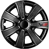 Jeu d'enjoliveurs VR 16-inch noir/look-carboné/logo