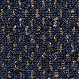 Teppichboden Auslegware Meterware Schlinge gemustert blau 200, 300, 400 und 500 cm breit, verschiedene Längen, Variante: 2 x 2 m