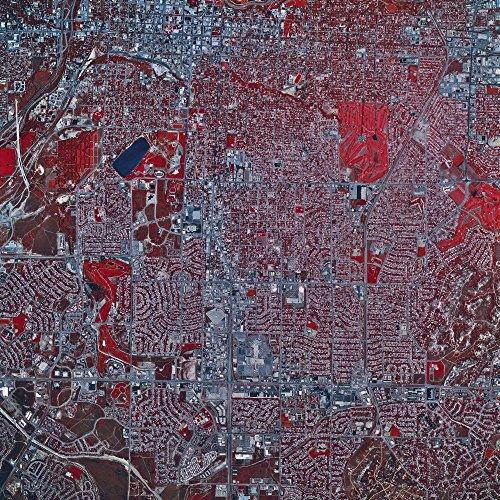The Poster Corp Stocktrek Images - Satellite View of Colorado Springs Colorado. Photo Print (69,60 x 69,60 cm) -