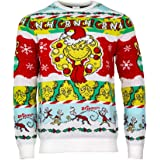 Numskull Unisex Ufficiale The Grinch 'Merry Grinchmas' Maglione di Natale a Maglia per Uomini o Donne - Brutto Regalo di Magl