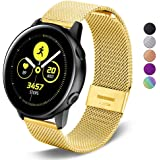 SPINYE Band Compatible for Galaxy Watch Active, 20mm Stainless Steel Metal Replacement Strap for Samsung Gear Sport / Galaxy