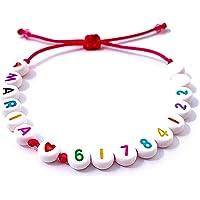 Braccialetto di sicurezza personalizzato MARIA 61 78 41 22 ** NUMERO DI TELEFONO con lettere dell'alfabeto e numeri per…