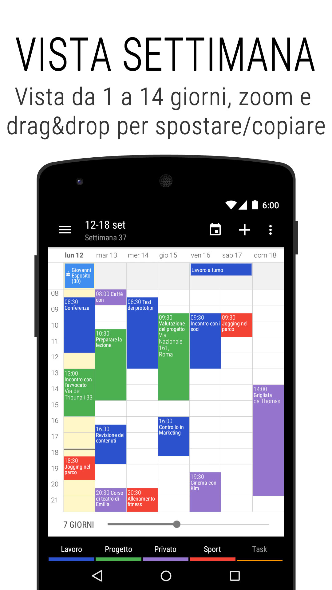 Notifiche Calendario Android.Calendario Business Appuntamenti Attivita