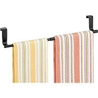 mDesign Porte-serviettes extensible – Porte-torchon à suspendre – Barre porte serviette pour la cuisine, la salle de…
