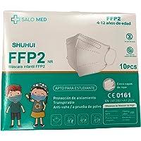 SALO MED - 10x Mascherine FFP2 NR PER BAMBINI - Certificate CE 0161 - Box 10 pcs