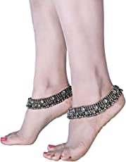 Charms Anklet for Women (Silver)(cr0255eef)