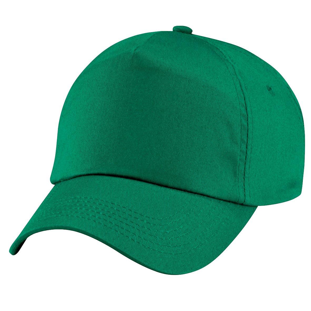 Beechfield - Cappellino Tinta Unita 100% Cotone - Bambino (Taglia unica) (Verde kelly)