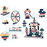 FunBlast DIY Building Blocks for Kids, Building Blocks with Baseplate - Learning and Education Toys for Kids- 100+ Pcs