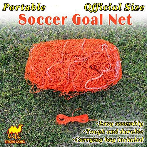 STRONG Camel New Portable 12'x 7' Offizielle Größe Fußballtor Netz Outdoor Fußball Training, Orange -