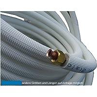 7m Kupferleitung 1/4 + 3/8 Zoll doppel Kältemittelleitung gebördelt