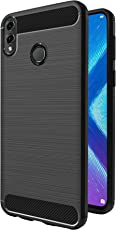 Amazon Brand - Solimo Honor 8X Protective Mobile Cover (Soft & Flexible Back Case), Black