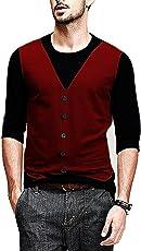Veirdo Men's Cotton Sinker Waistcoat