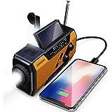 FosPower radio à manivelle solaire modèle A1 pour urgence avec AM/FM, lampe de poche, lampe de lecture et batterie externe de