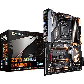 Gigabyte Z370AORUS Gaming 7Chipset LGA 1151V2Carte mère ATX SDRAM DDR4–Noir