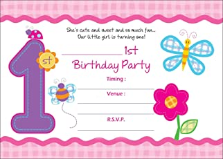 Kids invitations online buy party invitations for kids online askprints girls birthday metallic invitation card with envelope 5x7 inches pink bpc filmwisefo