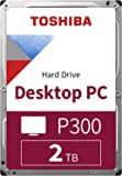 TOSHIBA P300 Interne Festplatte 2 TB – 3,5 Zoll (8,9 cm) – SATA Festplatte intern (HDD) – 7200 rpm (U/min) – 6 Gb/s…