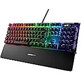 SteelSeries Apex Pro – Teclado mecánico para Gaming – Teclas mecánicas de actuación Ajustable – Smart Display con OLED – Tecl