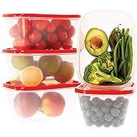 Oursson Ensemble de boîtes de Rangement Alimentaires-À Usage Multiple-Lot de 5 récipients Alimentaires en Plastique sans…
