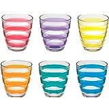 Pasabahce Set de 6Verres à Eau Helezon Multicolore