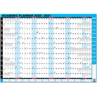 2020-2021 Academic/Student Mid-Year Wall Planner Unmounted A1 Large Size Blue by Arpan