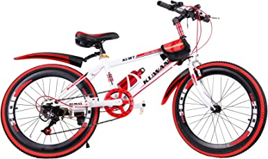 Mediablue Kuwant Grün Fahrräder Unisex Jungen Kinderfahrrad Mountain Bike 7-Gang MTB Bike