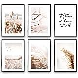 Heimlich® Tableau Décoration Murale - sans Cadres -Set de Poster Premium pour la Maison, Bureau, Salon, Chambre, Cuisine -  6