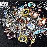 Icycheer Nagel-Dekoration, Perlen, Strasssteine, Metall-Nieten, Nail Art, für 3D-Nagelkunst