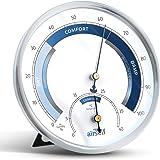 airself Termohigrómetro analógico - Termómetro de Interiores y medidor de Humedad - con Diferentes Zonas para controlar la Te