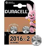 Duracell 2016 Pile bouton lithium 3V, lot de 2, avec Technologie Baby Secure, pour porte-clés, balances et dispositifs portab
