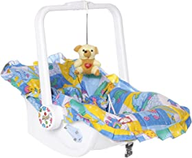 Archana Nhr Multipurpose (7 In 1) Blue Baby Carry Cot With Mosquito Net And Sun Shade - Blue