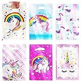 Annhao Sacchetti Compleanno Unicorno, 60 Pezzi Sacchettini di Festa a Modello di Unicorn, Sacchetti di Biscotto Borse Regalo