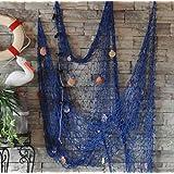 XINLINTRA Filet de pêche cousu à la main/décoration pour votre maison ou restaurant, style méditerranéen, 1,5 m x 2 m