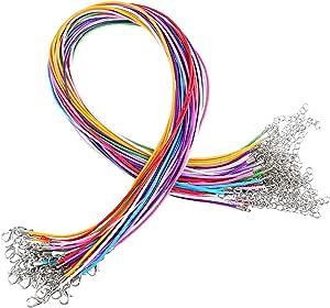 Mischfarbe 1 mm Edgeam 9Pcs multicolore cera Band di filo di cotone cerato per collare collana DIY gioielli