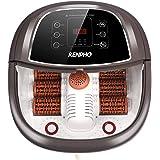 RENPHO fotbadmassagerare med snabb uppvärmning, automatisk massage och kraftfulla bubbelstrålar, motoriserade Shiatsu-massage