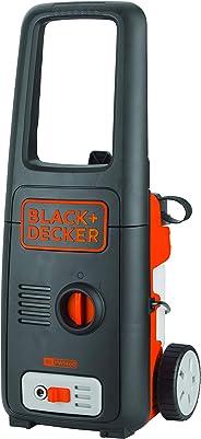 Black+Decker 1400W 110 Bar Pressure Washer, Black/Orange, 10.5 x 18.8 x 12.1 inches, BXPW1400E-B5
