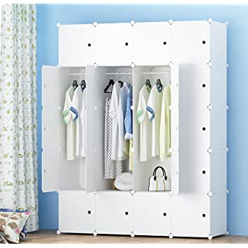 premag portable wardrobe for hanging clothes combination armoire modular cabinet for space. Black Bedroom Furniture Sets. Home Design Ideas