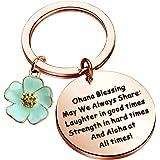 Ensianth Ohana - Braccialetto con motivo a forma di cuore, con motivo a forma di fiore di ibisco, idea regalo per la famiglia