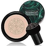 SIAHMOO CC Cream Fondotinta Liquido Full Coverage Foundation Makeup Cushion Foundation con spugna a testa di fungo per un tru
