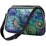 Große Damen Tasche Handtasche Umhängetasche Filz Grau Aufdruck Motiven NESI Nirvana
