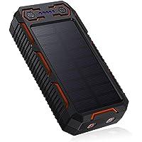 Solar Power Bank 26800mAh EnergyCell 2 USB Ausgängen(3.2A) Solar Tragbare Ladegerät Externer Akku Leuchte…