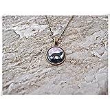 Leonid Meteor Collar de Lobo de Ducha, Lobo y Luna Collar, Colgante de Lobo, joyería de Lobo, Regalo para Ella, Collar