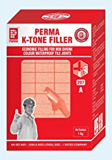 Perma K-Tone Filler (Used for Grounting Tile Joints, Excellent Waterproofing Properties, Solves Leakage Problem) 1 KG