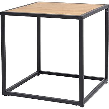 more design table basse mtal noir naturel 40 x 40 x 40 cm