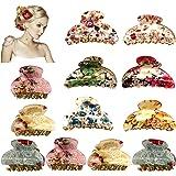 12 Pezzi Pinze per Capelli in Acrilico,Mollettoni Capelli Clip, Artiglio Pinzette per Capelli Donna Elegante Fermacapelli Pin