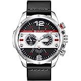 Curren 8259 Men's Sports Waterproof Leather Strap Analog Display Wrist Watch - Blue