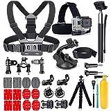 YEHOLDING Kit d'accessoires 25 en 1 pour caméra d'action GoPro Hero 9 8 Max 7 6 5 4 3 SJ4000 et autres caméras pour le sport