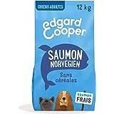 Edgard & Cooper Croquettes Chien Adulte sans Cereales Nourriture Naturelle 12kg Saumon Frais Hypoallergénique, Alimentation S